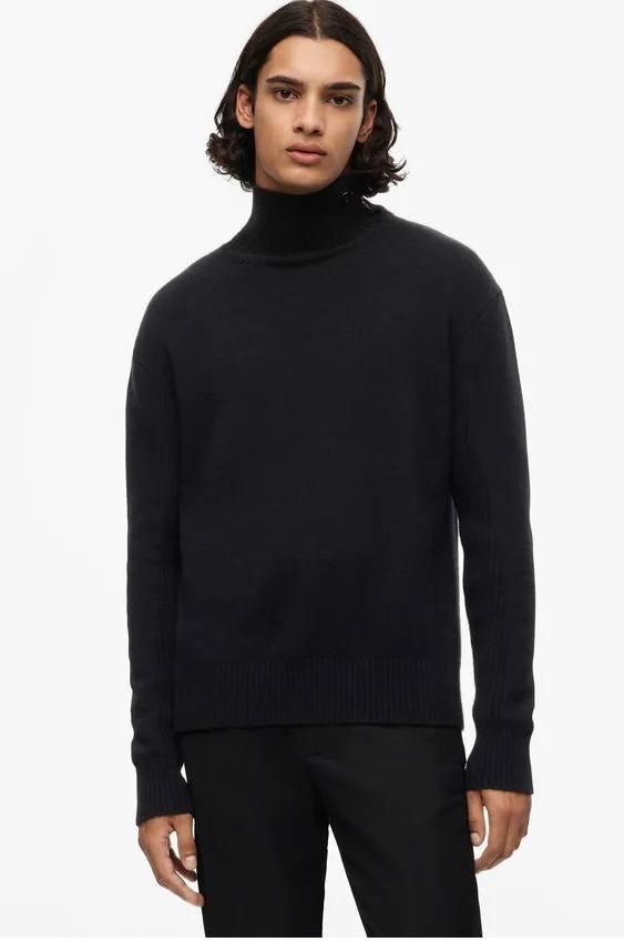 Los jerseis hombre zara cuello vuelto cashmere