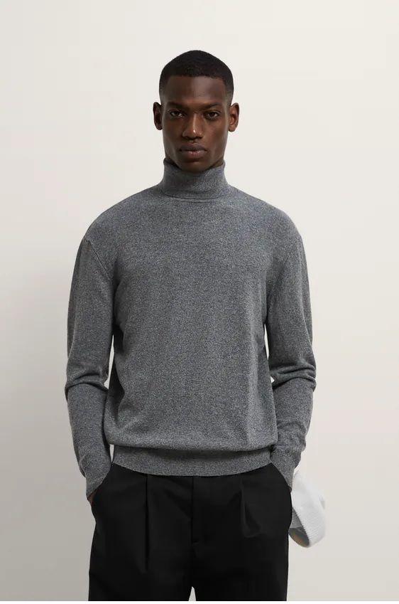 Los jerseis hombre zara cuello vuelto gris