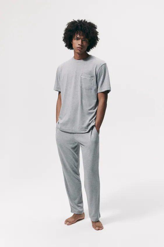 Los pijamas de zara camiseta bolsillo