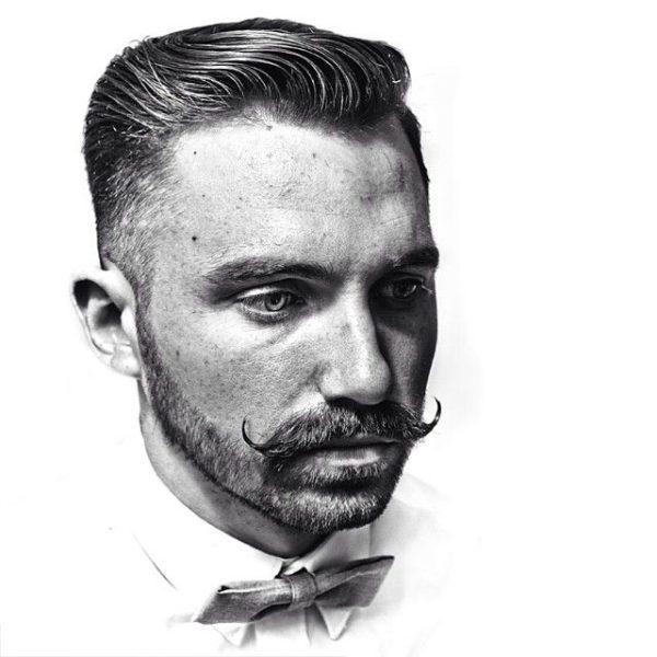 Mejores tipos o estilos de barba corta para hombres bigote grande barba corta
