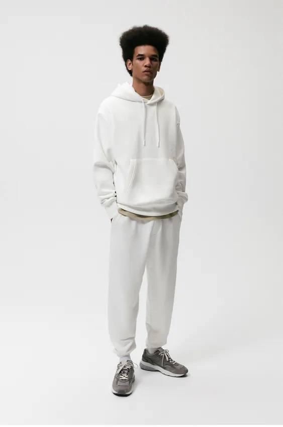 Pantalones hombre jogger blanca