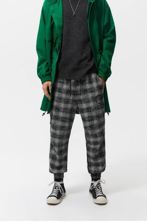 Pantalones hombre jogger cuadros