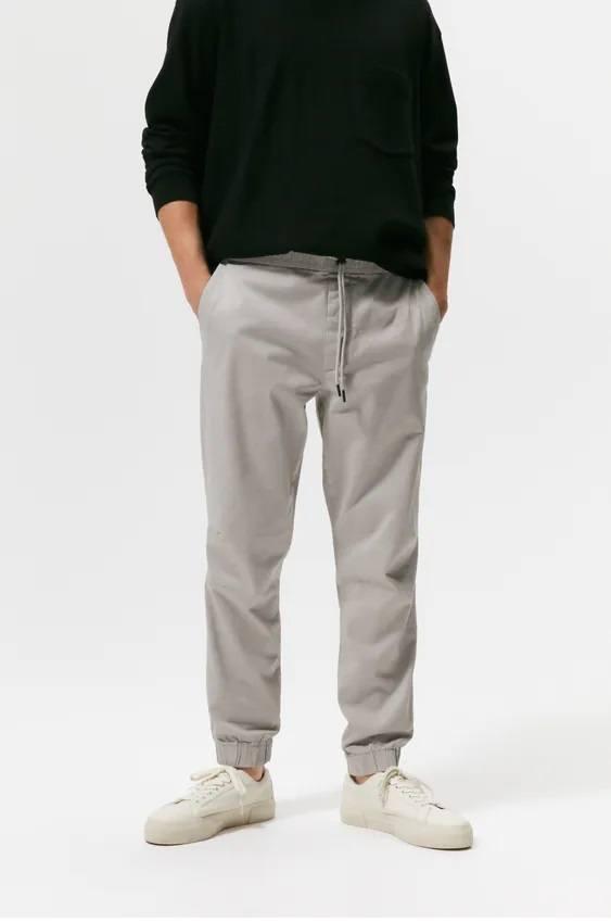 Pantalones hombre jogger pinzas