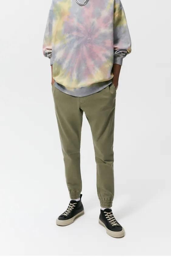 Pantalones hombre jogger slim