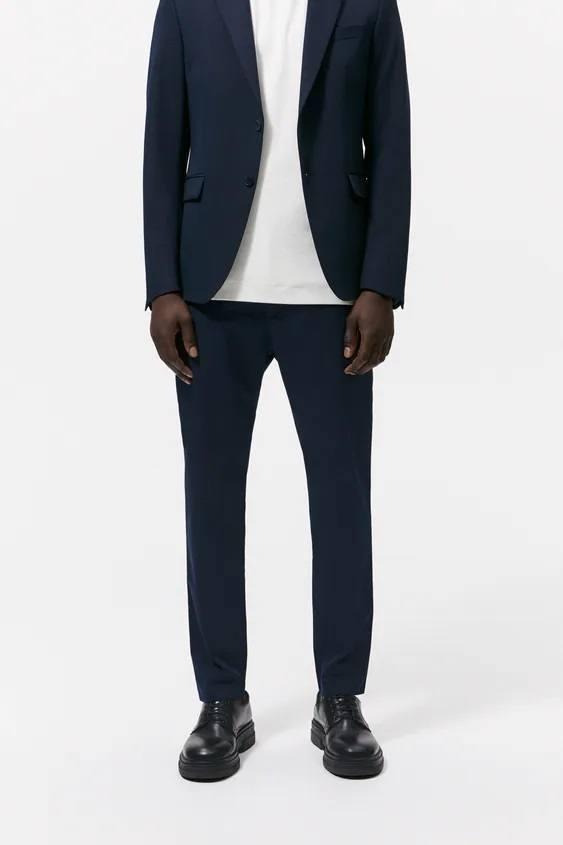 Pantalones hombre pantalon chino azul