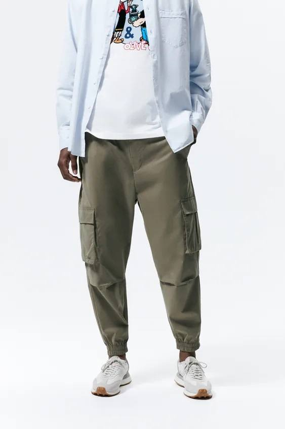 Pantalones hombre pantalon colores khaki suave.