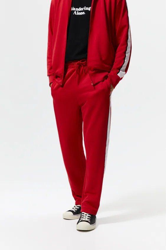 Pantalones hombre pantalon colores rojo