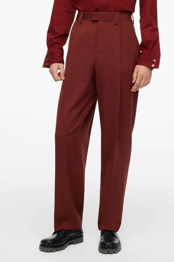Pantalones hombre pantalon colores teja