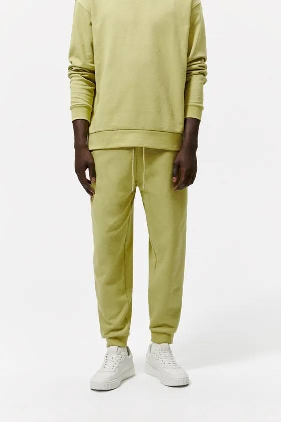 Pantalones hombre pantalon colores verde claro