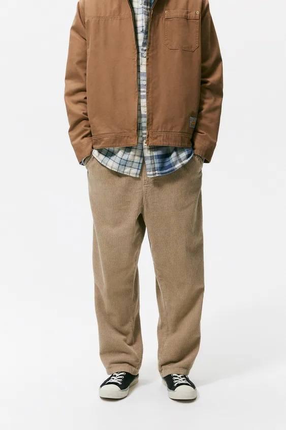Pantalones hombre pantalon pana wide fit
