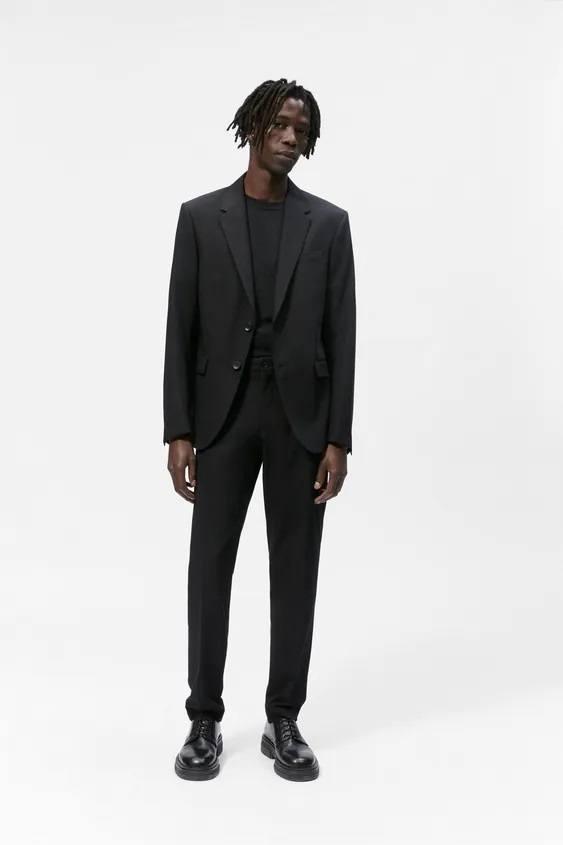 Pantalones hombre pantalon slim traje gris