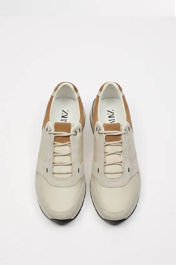 Zapatillas de zara para hombre RETRO FOTOS zapatilla running piel