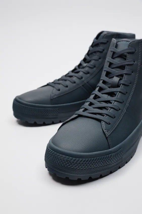 Zapatillas de zara para hombre botin azul
