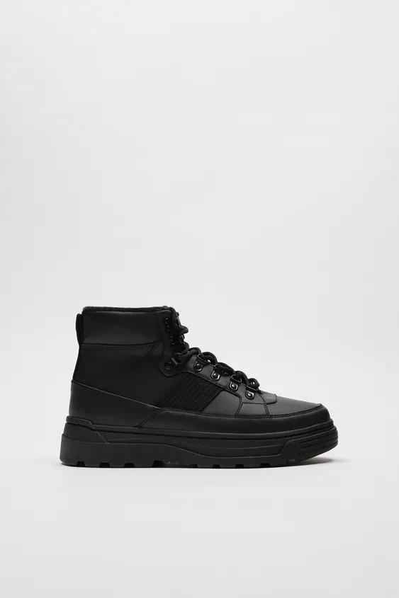 Zapatillas de zara para hombre botin track negro