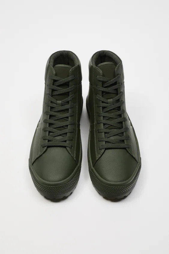 Zapatillas de zara para hombre botin verde