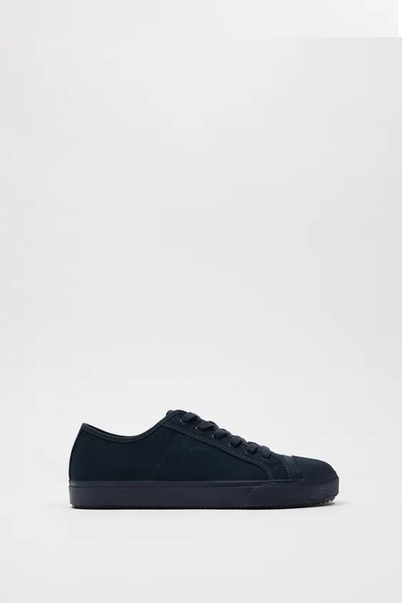 Zapatillas de zara para hombre zapatilla bamba canvas azul