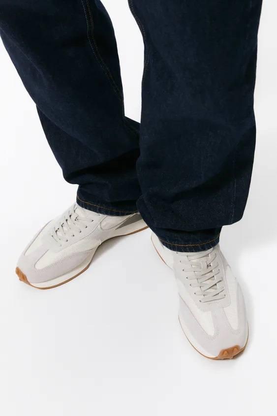 Zapatillas de zara para hombre zapatilla running retro gris