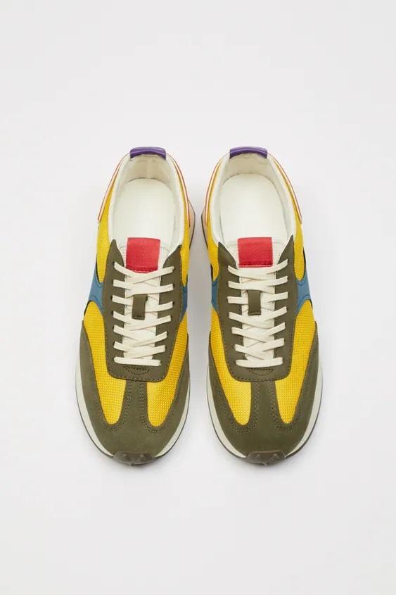 Zapatillas de zara para hombre zapatilla running retro multicolor