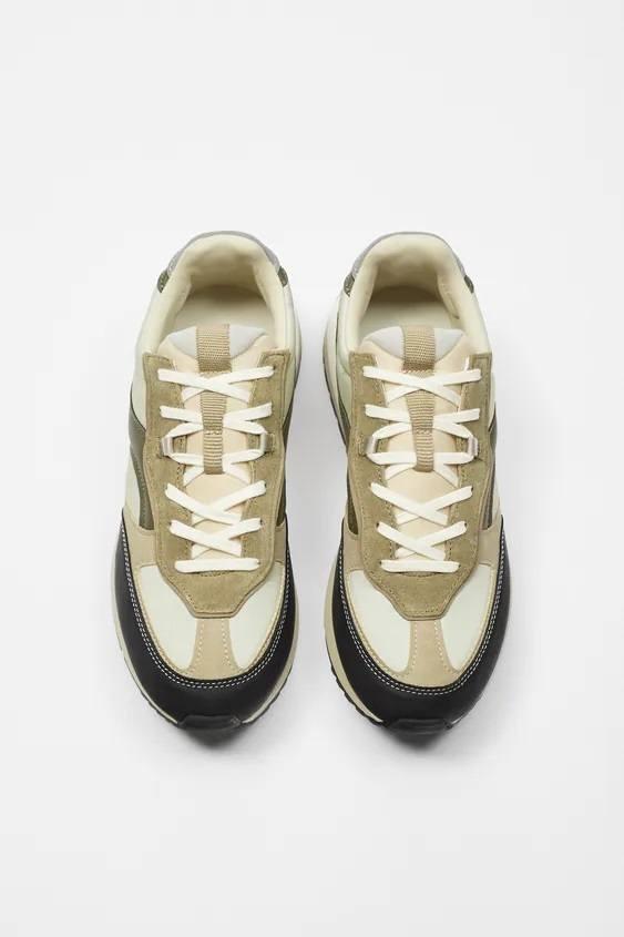 Zapatillas de zara para hombre zapatilla running retro superposicion