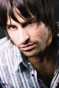 Man medium hairstyle with long bangs_ dark brown hair