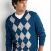 Los clásicos sweaters con rombos