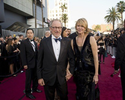 Steven Spielberg, Oscar®-nominee for Best Motion Picture of the Year, and Kate Capshaw arrive for the 84th Annual Academy Awards® from Hollywood, CA February 26, 2012.