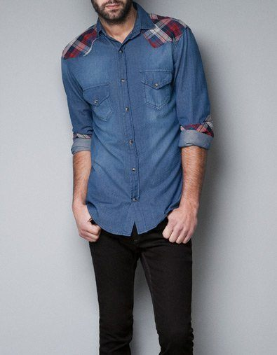 Camisa denim estampado