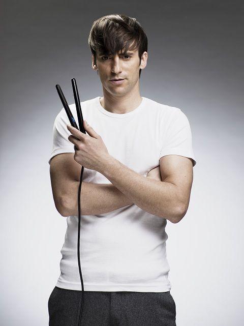 Como planchar el cabello corto hombres