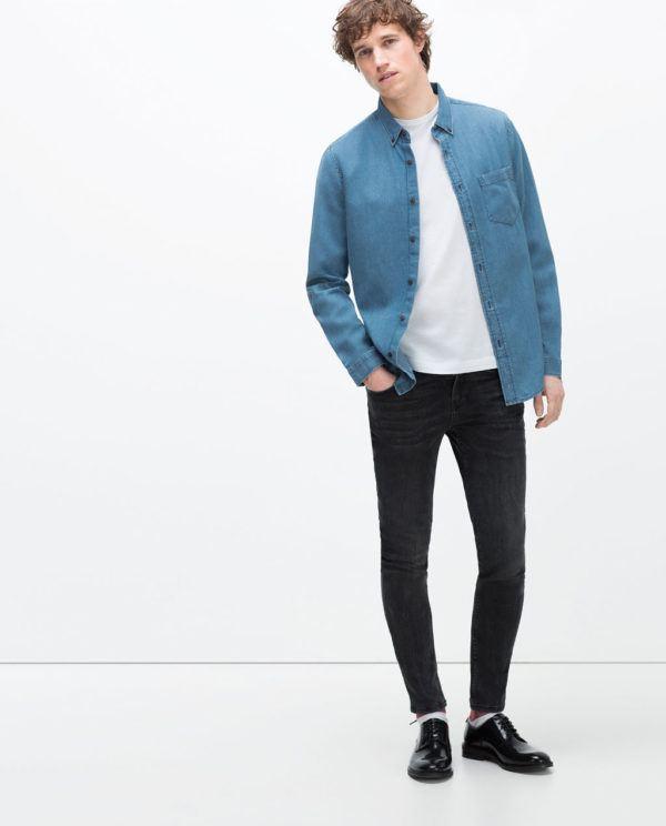 look-de-la-semana-camisa-vaquera-zara-con-pantalon-negro