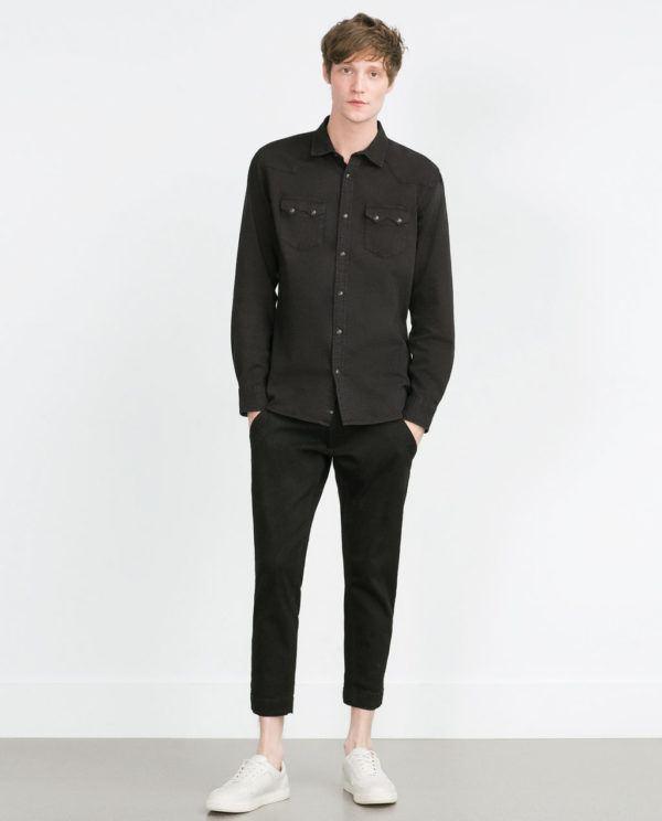 look-de-la-semana-camisa-vaquera-zara-negra-con-pantalon-negro