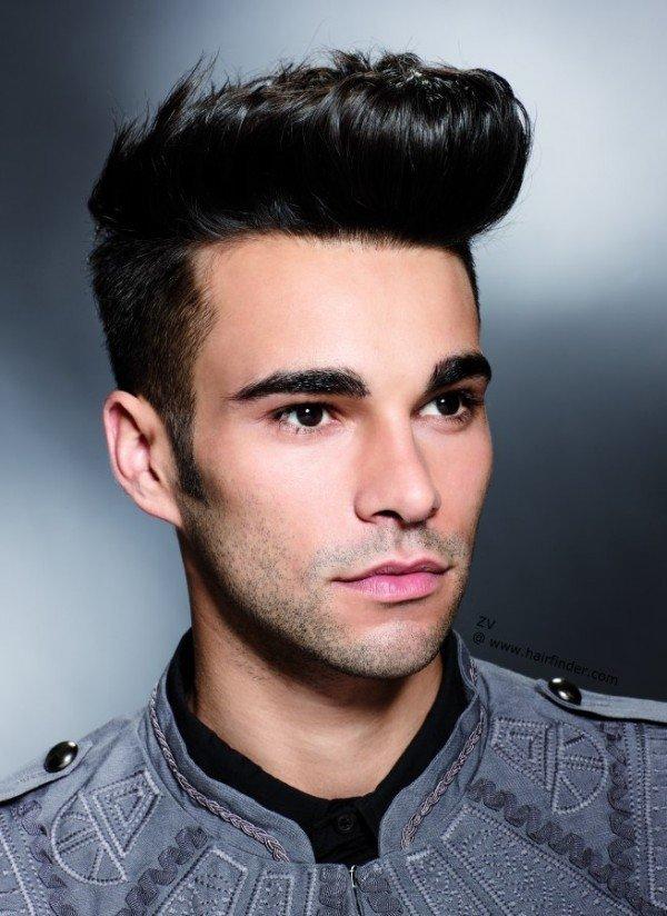 nuevos cortes de pelo y peinados masculinos 2015 peinado con tup