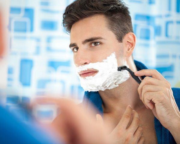 afeitado hombre