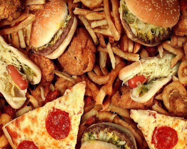 Comida basura alimentos belleza