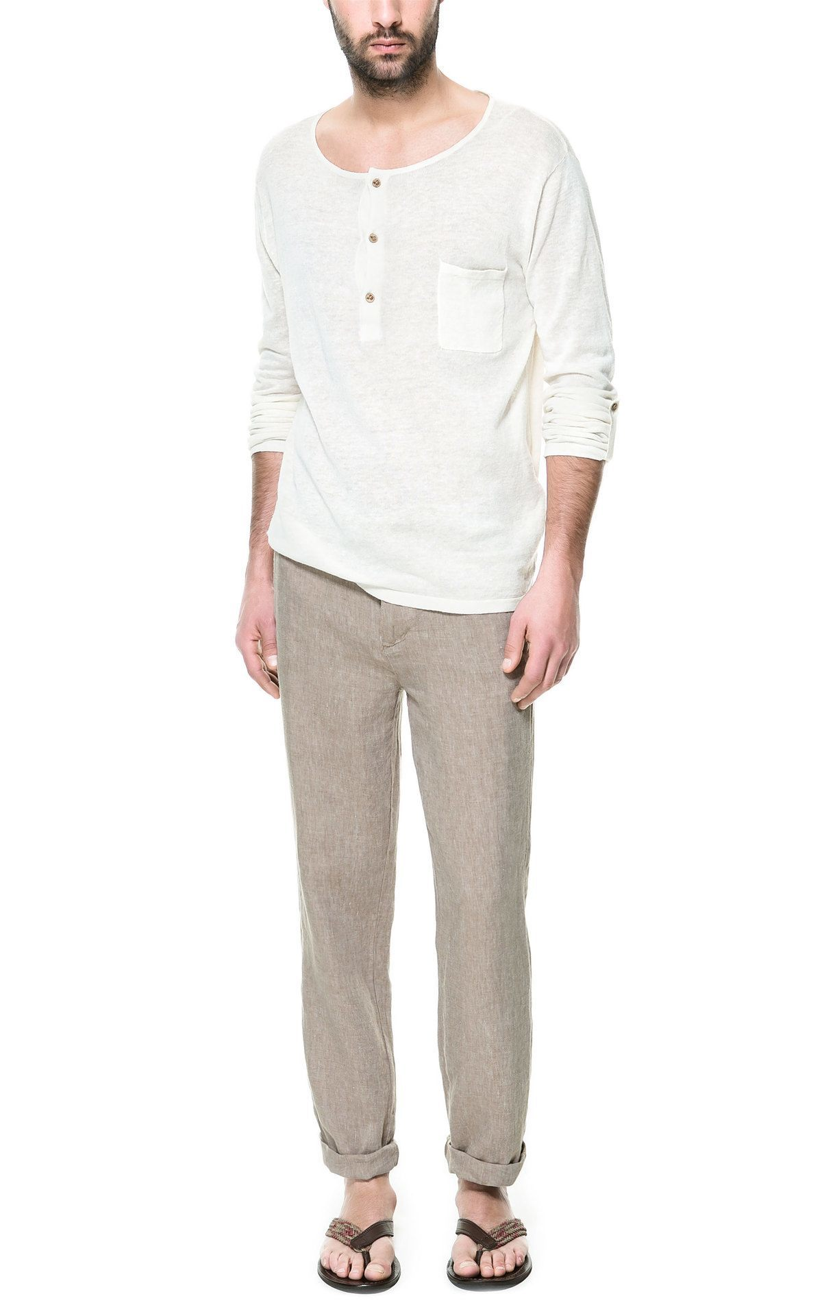 Propuestas Zara Hombre Primavera Verano 2013 Pantalon Lino Cordon Modaellos Com