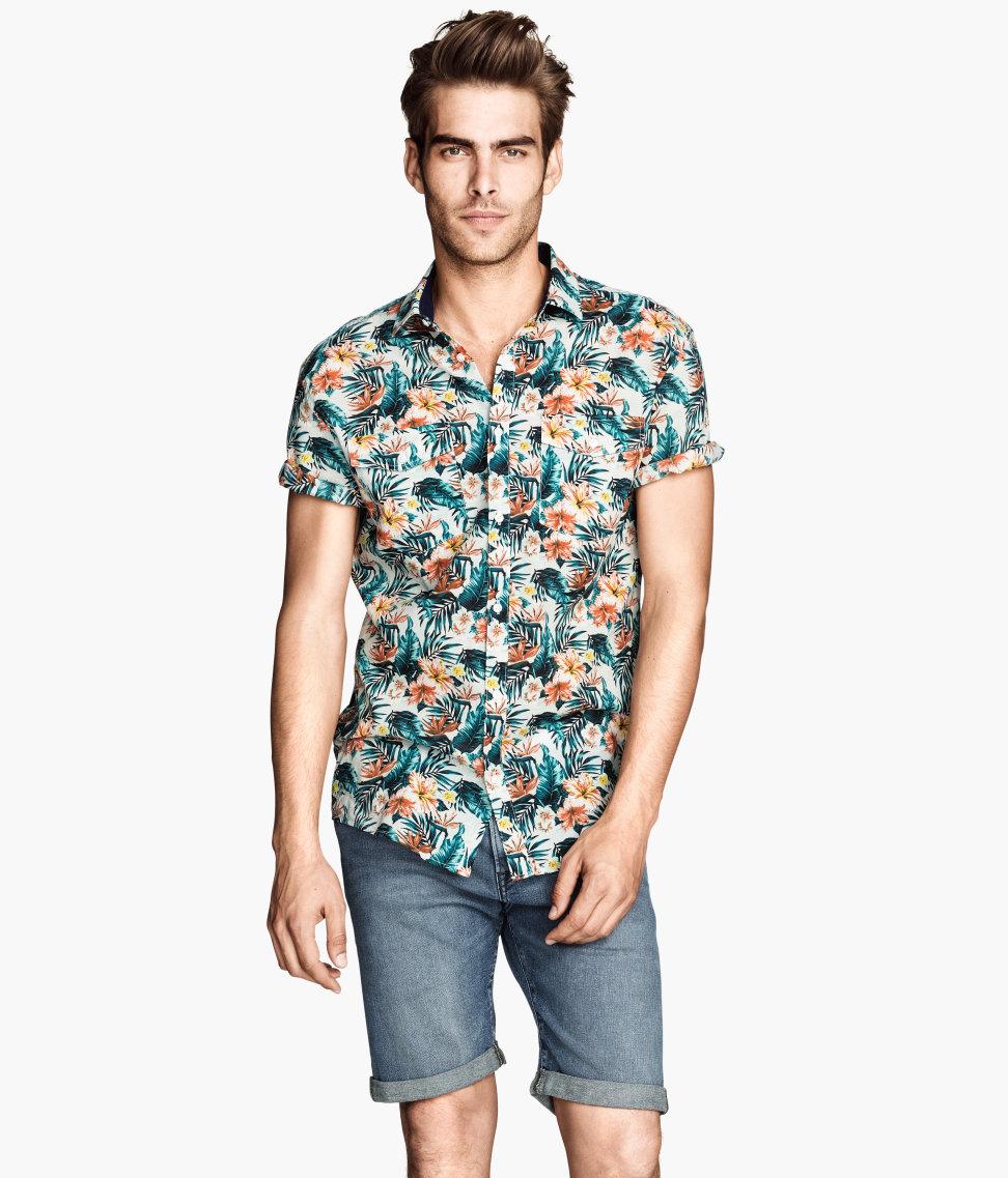 Covrlge Hombres Camisa de Flores de Verano 2017 Nuevas