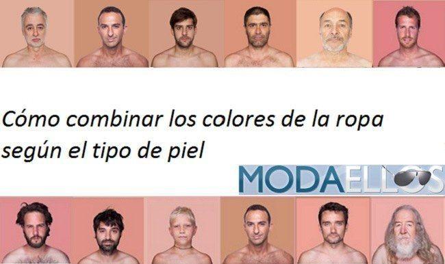 Color de ropa para piel blanca hombre