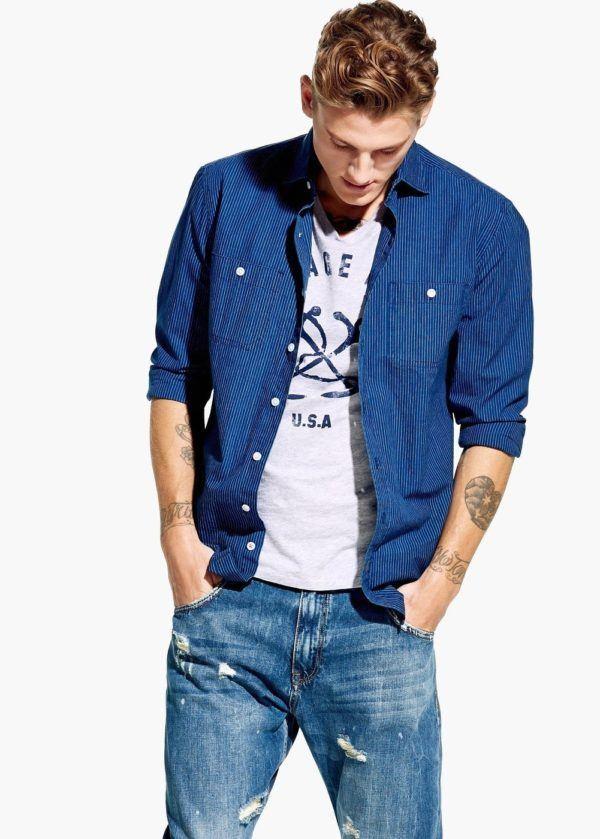 """Moda """"Low Cost"""" con las últimas tendencias Primavera Verano 2015 estilo denim mango"""