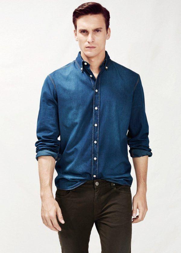 tendencias-en-ropa-para-hombre-otono-invierno-2014-2015-camisa-denim-mango