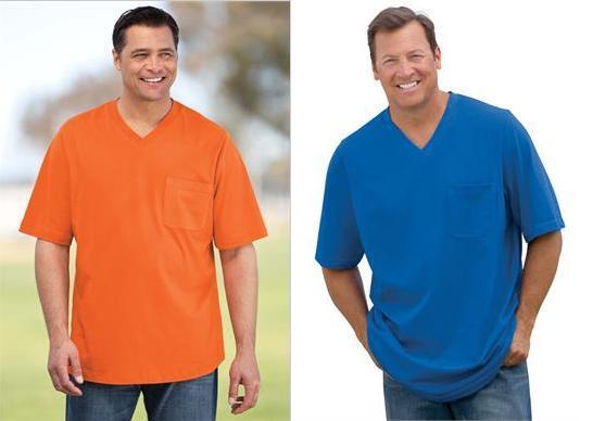 Utiliza camisetas con cuello en V o de pico