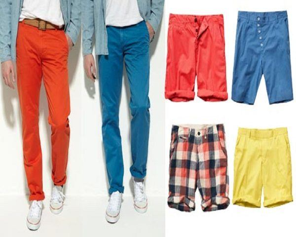 Pantalones hombre colores chillones