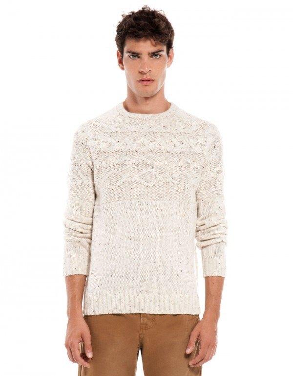 moda-sudaderas-y-jerseis-hombre-otono-invierno-2013-2014-tendencias-jersey-trenzado-blanco