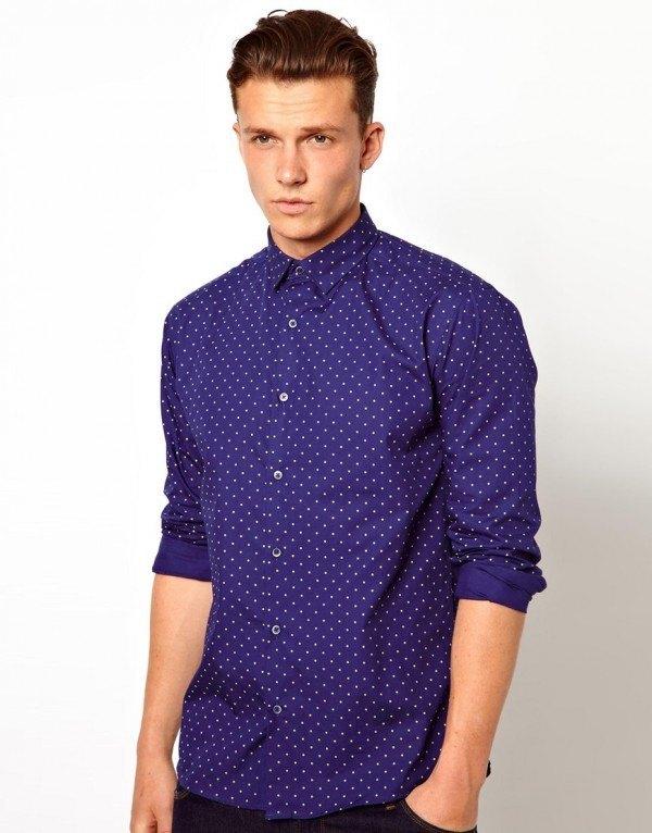 tendencias-camisas-hombre-2014-camisa-estampado-lunares