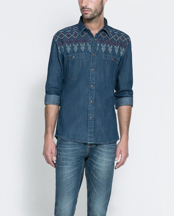 "Camisa ""denim"" Zara invierno 2016"