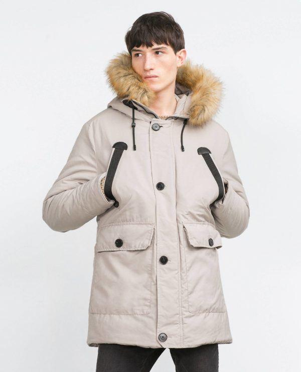chaqueta capucha pelo zara hombre