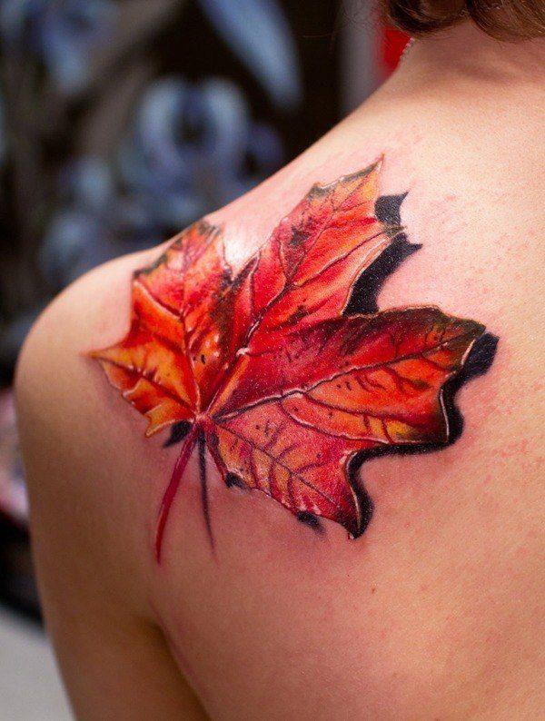 las-fotos-de-tatuajes-en-3d-estrella-hoja-arbol-otono