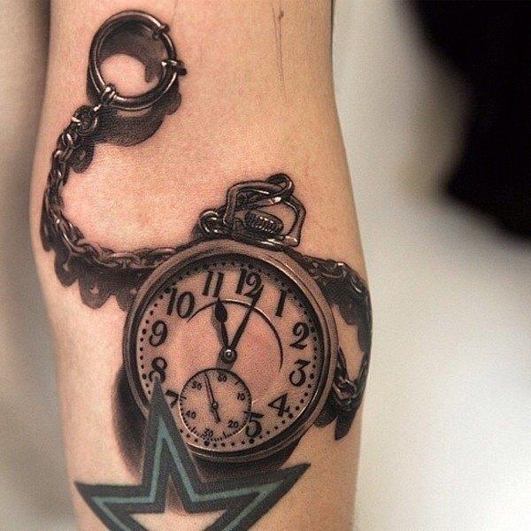 las-fotos-de-tatuajes-en-3d-reloj