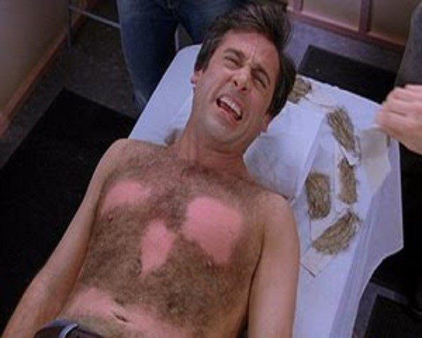 Hombres pelo pecho depilación