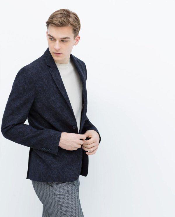 Trajes de Zara Primavera Verano 2015 blazer estampado