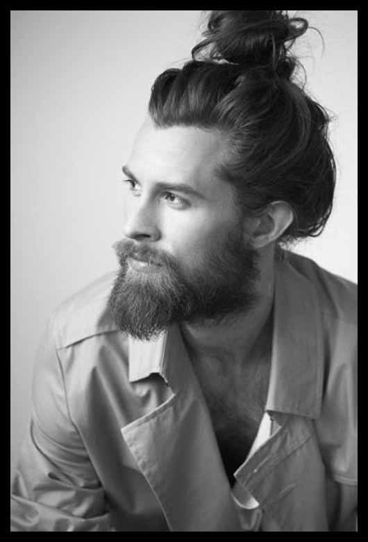 peinados hombre pelo largo