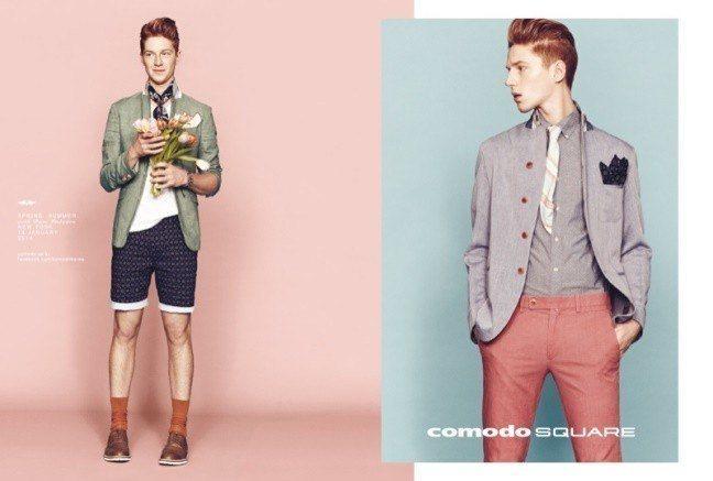 comodo-square-hombre-primavera-verano-2014-bermudas-estampadas-pantalón-rojo-claro